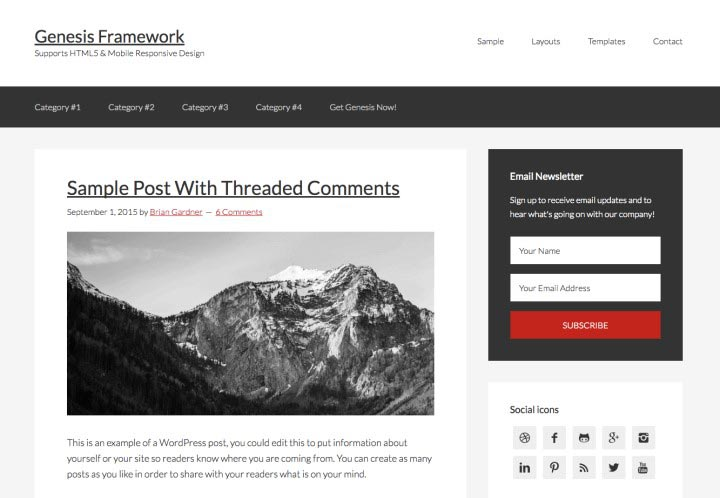 Genesis WordPress Theme 03