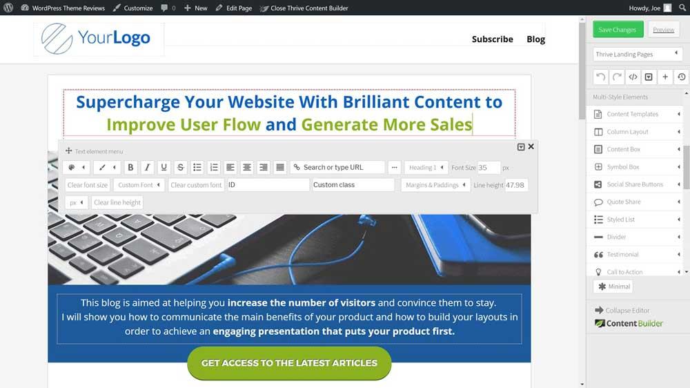 Thrive Theme WordPress 014