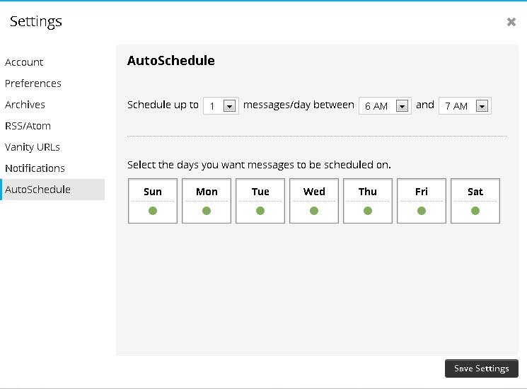 Hootsuite AutoSchedule